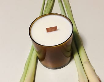 Amber Vintage Wood Wick Soy Candle | Essential Oils 11 oz