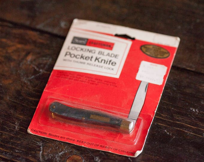 Deadstock Craftsman 95074 LockBlade Trapper Pocket Knife Vintage Sears Craftsman Locking Pocket Knife Lock Blade Craftsman Knife