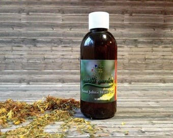 St. John's Wort Oil 3 oz medicinal solar infused 100% pure