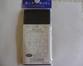 Hana-Fukin Sashiko Sampler Kit in Indigo Blue Cotton/Dragonflies