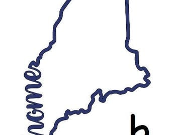 State of Maine Decal