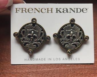 French Kande stud earrings