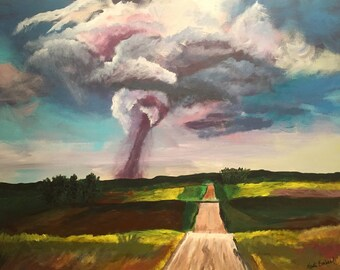"Original Acrylic Painting - ""Tornado Warning"""