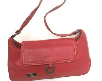 Gucci Red Leather Small Purse Vintage Gucci Handbag Made In Italy