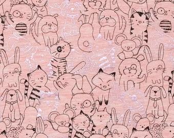 Animal fabric pink. SK193