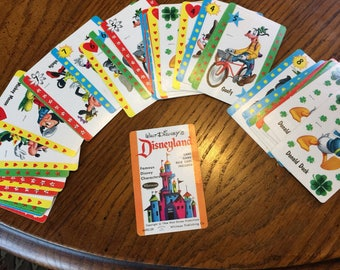 1964 Walt Disney Disneyland Card Game 44 cards