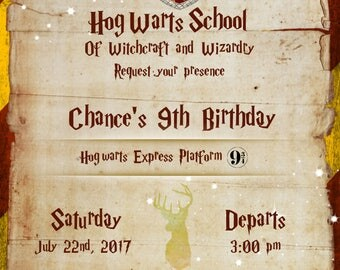 Harry P, Choose Your House Invitation (Digital File)