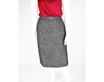 Two-tone vintage skirt with straight fit