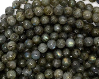 "6mm grey labradorite round beads 15.5"" strand S1 39007"