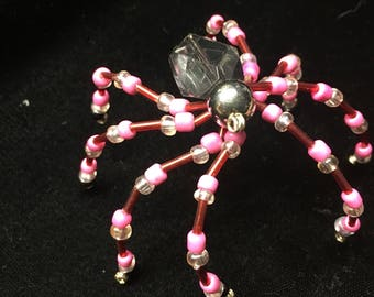 Red and Pink Spider Ornament