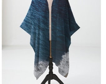 Ocean Blue Sheer Wrap