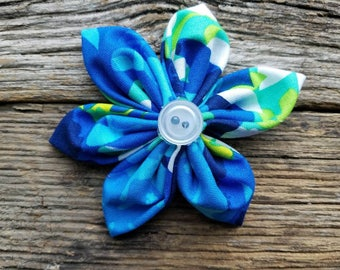 Blue, green, white, flower, dog collar flower, small