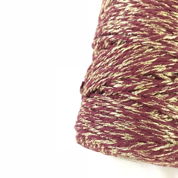 Metallic Macrame Cord MULBERRY SHINE