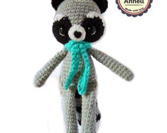 Amigurumi Raccoon/ Crochet Raccoon/ Stuffed Raccoon/ raccoon toy/ Raccoon Plush/ Woodland Animals/ Forest Animals/Crochet Toys