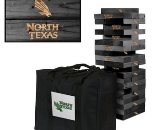 North Texas Mean Green Engraved Giant Victory Tower