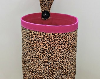 Pink Cheetah Car Trash Bag