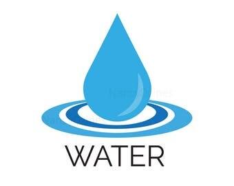Water logo - Water drop logo - Blue water logo - premade drop logo - logo design