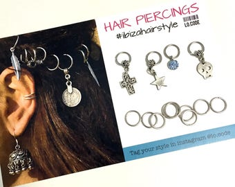 Hair hoops with charms