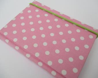 Bounded notebook handbag pink polka dots