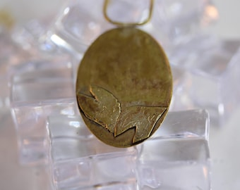 Brass Etched Pendant (082017-101)
