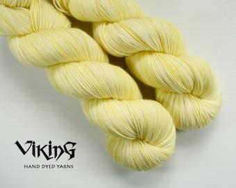 SALE!! Hand Dyed Yarn - Superwash Merino, Cashmere & Silk in 'Buttersilk'