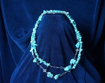 Gorgeous Turquoise necklace 89 cm and extention 9cm