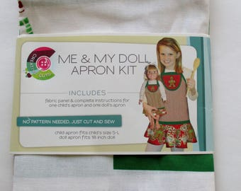 Daisy Kingdom Craft Kit, Creative Cuts Apron Kit, Daisy Kingdom Me & My Doll Apron Kit, Christmas Holiday Apron Kit,