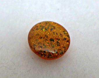 12 very small buttons - orange - 11mm