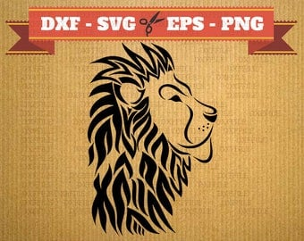Lion svg vector files for cricut, Lion cutting files, clipart Lion, DXF files Lion, silhouette Lion, svg Lion, cricut