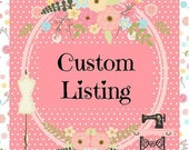 Custom list for Carla - Thread Sewing Pins - Pins in Tins - Decorative Sewing Pins - Pins -
