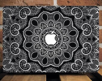 Boho Mandala Macbook Pro 13 Inch Macbook Pro 15 Case Hard Henna Mac Pro Retina Macbook Pro Sleeve 13 Pro Macbook Sleeve 12 Macbook WCm061