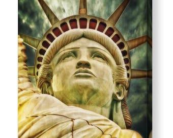 Statue of Liberty New York CANVAS ART/ PRINT A4, A3, A2, A1