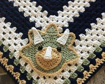 Crochet Pattern - INSTANT PDF DOWNLOAD - Crochet Pattern - Crochet - Triceratops - Dinosaur - Crochet Dinosaur Pattern -Crochet