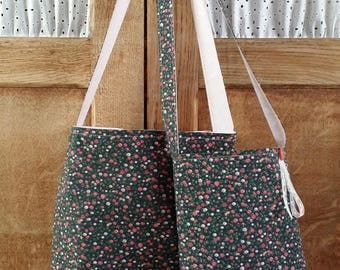 Mother/daughter pattern shoulder bag small flowers