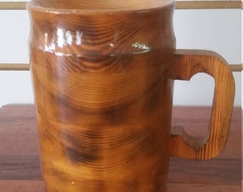 wooden beer stein, 15 oz.