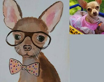 Custom Funny Painting of Your Dog