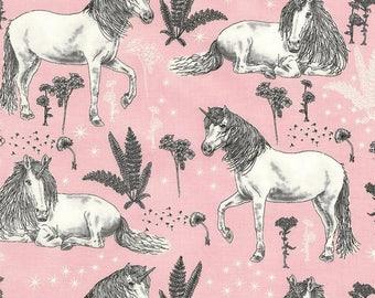 Timeless Treasures - Unicorn Sketch - C5573 - Pink - Unicorn -  Fabric by Yard