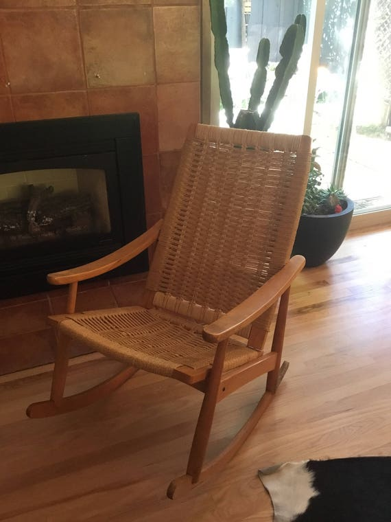 Amazing 1970s Rush Rocking Chair Beautiful Stylish And Very Comfortable