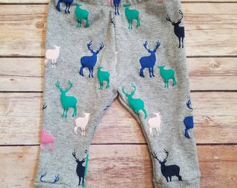 deer leggings, baby girl leggings, toddler leggings, winter leggings, baby leggings, Christmas leggings