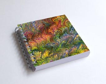 "Notebook 4x4"" decorated with motifs of marbled papers - 33"