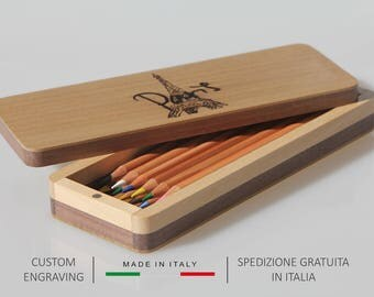 Pen holder, Pencil holder, Wooden pencil box, Pen box, Pencil case, Desk organiser, Gifts for him, Gifts for her, Personalized gift ideas