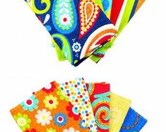 Paisley Print Fat Quarters, Fat Quarter Bundle, Craft Bundle, Fat Quarters Fabric Bundle, Fat Quarter Quilt Fabric, 100% Cotton Fabric