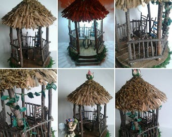 Fairy gazebo with rocking chairs
