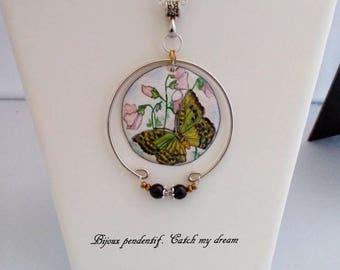 Creative copper enamel pendant necklace