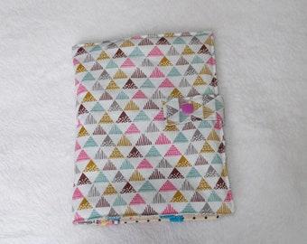 Rangement à barettes et elastiques en tissu triangle