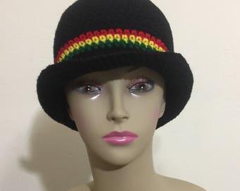 Handmade crochet bucket hat cap tam