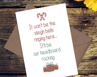 Funny Christmas Card for Husband / Boyfriend / Wife / Girlfriend / Xmas Cards for Partner