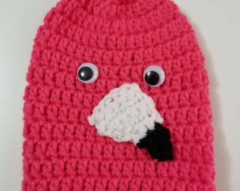 Pink Flamingo = Cast Cozy/Cast Sock/Toe Cover = Ready to ship.