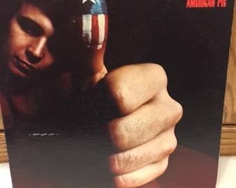 "Don McLean- ""American Pie"" 33 rpm 12"" folk rock album, the day the music died, 60s folk rock, folk rock albums, classic rock music"