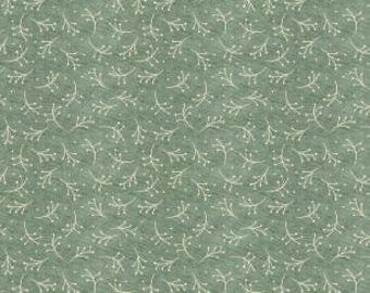 BUT FIRST COFFEE Collection Sprig Toss Teal by Katie Doucette Licensed by Wilmington Prints Studios  #1897 54529 441 100% Cotton